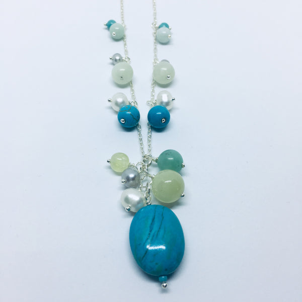 Bleu turquoise collier