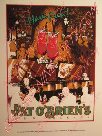 Official Pat O'Brien's Silk Screen poster 1