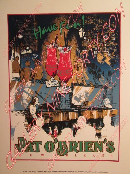 Official Pat O'Brien's Silk Screen poster 2