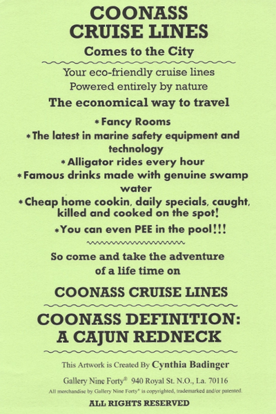 Coonass Cruise Lines