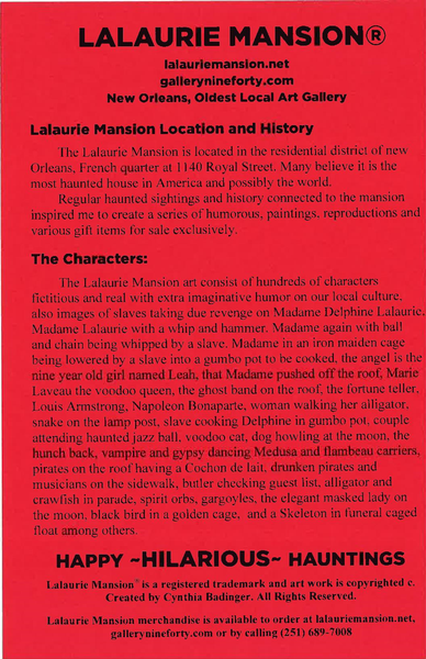 Lalaurie Mansion® Mardi Gras 1831