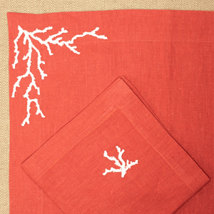 Lot Set & serviette - Corail