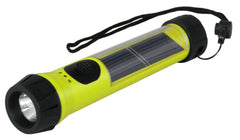 Hybrid Light Solar Hybrid Flashlight HiVis Yellow