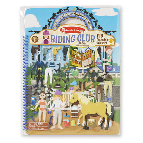 Puffy Sticker Activity Book-Riding Club