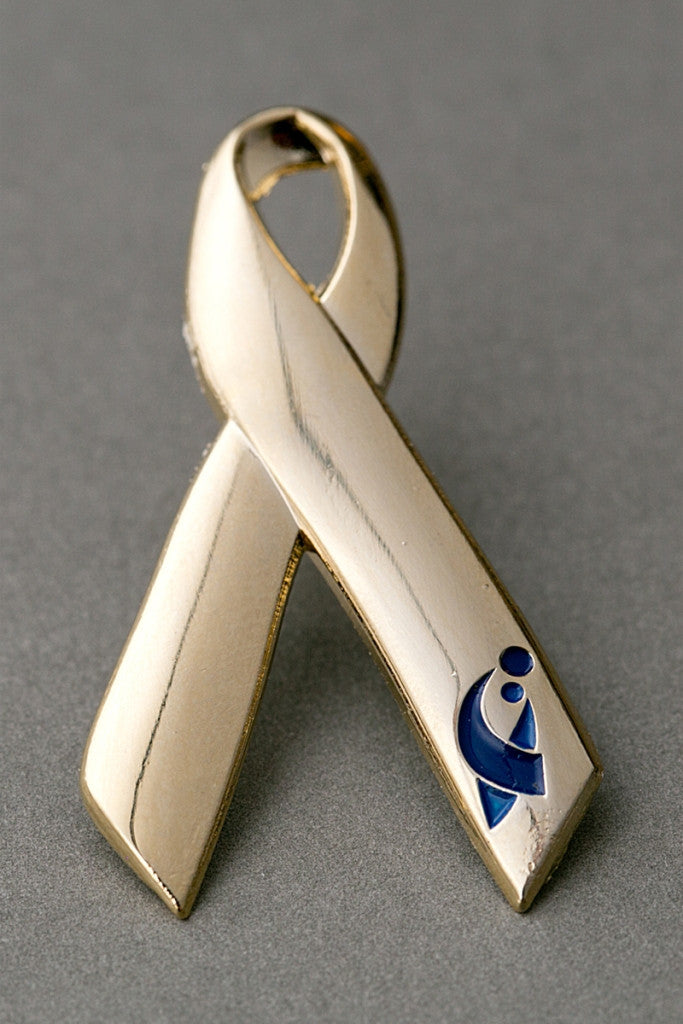 ACCO Logo Gold Ribbon Lapel Pin