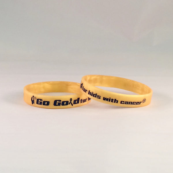Go Gold for Kids with Cancer® Silicone Bracelet
