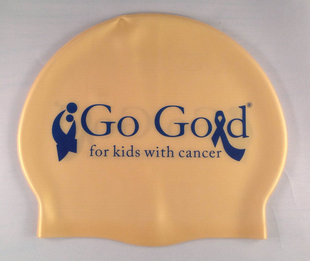 Go Gold for Kids with Cancer Silicone Swim Cap