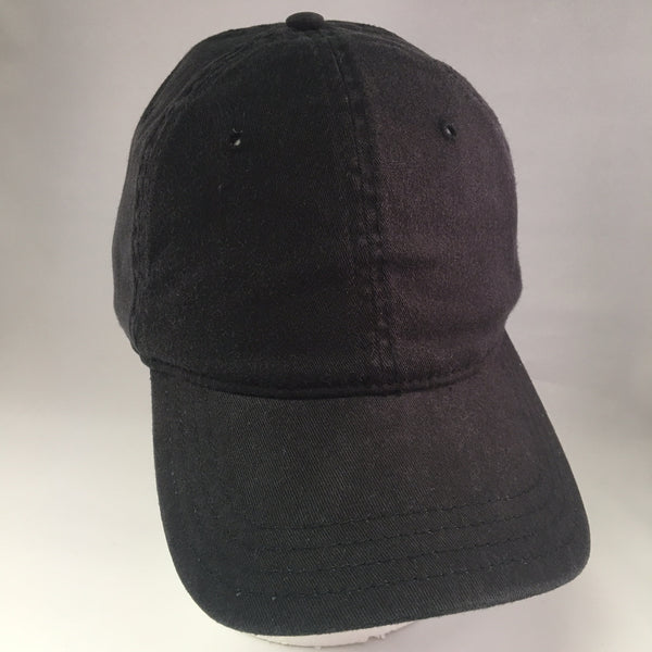 Black Washed Cotton Baseball Cap