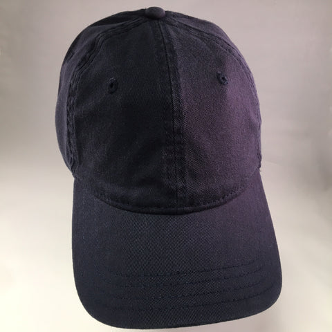 Navy Washed Cotton Baseball Cap