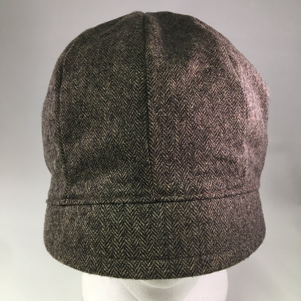 Dark Brown Tweed Schoolboy Cap