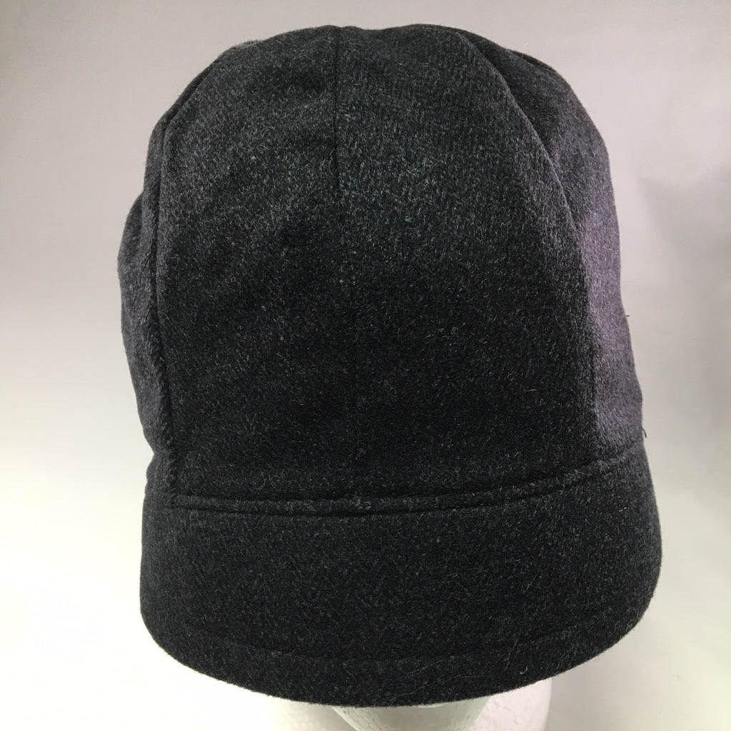 Black Tweed Schoolboy Cap