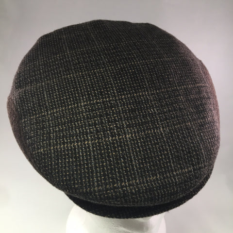 Dark Brown Tweed Flat Cap