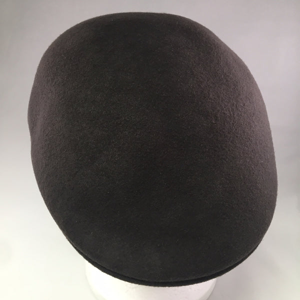Dark Brown Felt Driving Cap