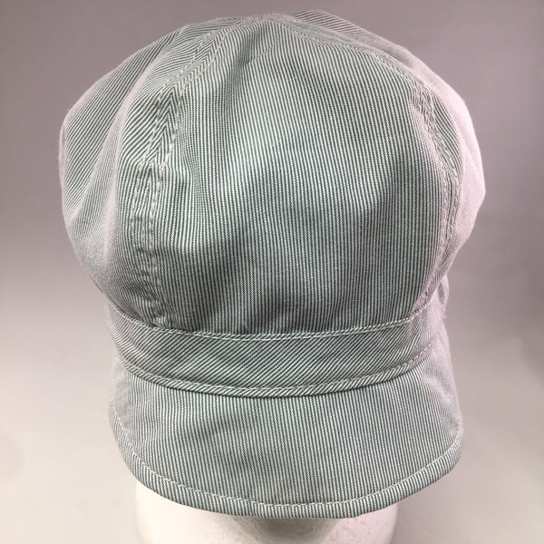 Navy/White Pinstripe Cotton Schoolboy Cap