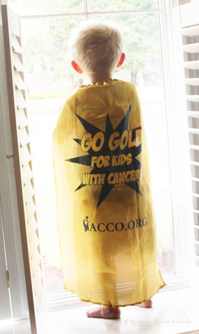 Go Gold for Kids with Cancer® Capes
