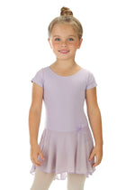 Elowel Kids Girls' Ruffle Short Sleeve Skirted Leotard (Size 2-14 Years) Lavender