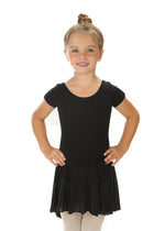Elowel Kids Girls' Ruffle Short Sleeve Skirted Leotard (Size 2-14 Years) Multiple Colors