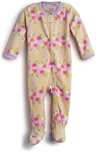 Elowel Baby Girls Footed Flower Pajama Sleeper Fleece (Size 6M-5Years)