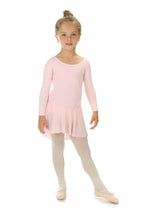 Elowel Kids Girls Ruffle Long Sleeve Skirted Leotard (Size 2-14 Years) Color Baby Pink