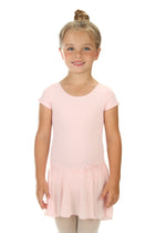 Elowel Kids Girls' Ruffle Short Sleeve Skirted Leotard (Size 2-14 Years) Baby Pink