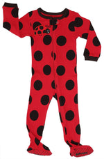 Elowel Baby Girls Footed Polka Dot Pajama Sleeper 100% Cotton (Size 6M-5Years)