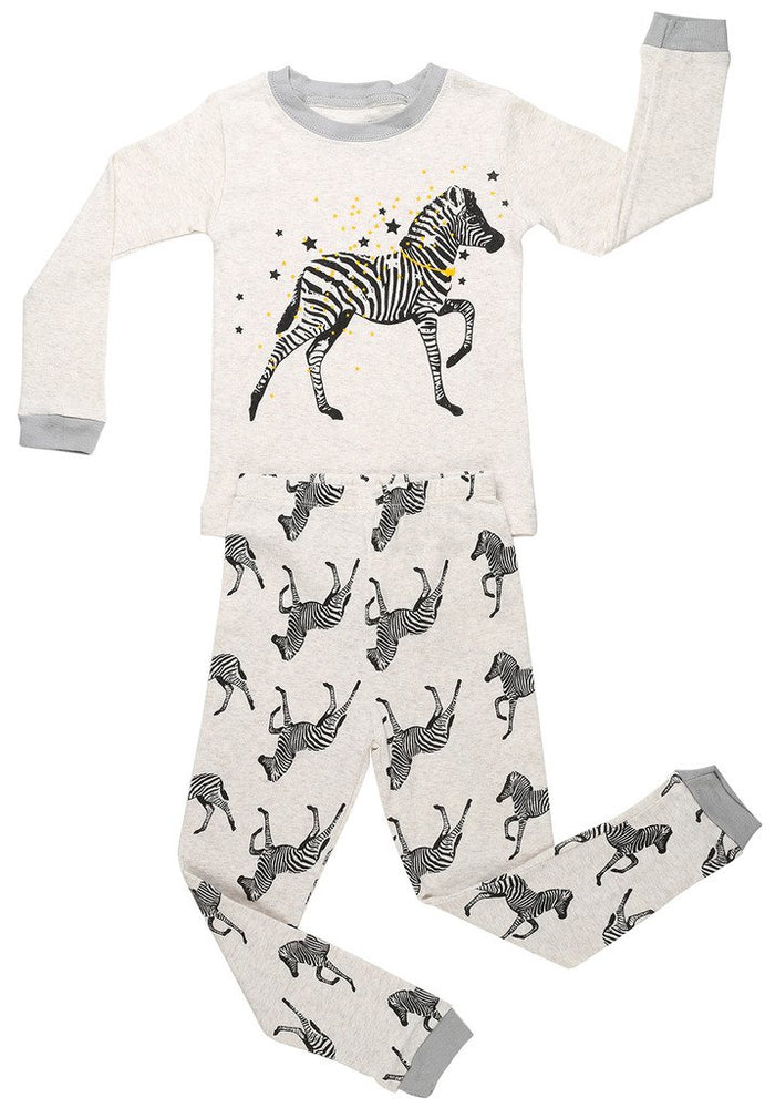 Elowel  Boys Zeebra 2 Piece Pajama Set 100% Cotton (Size6M-8Y)