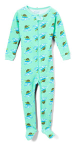 Elowel Baby Boys Footed Turtle Pajama Sleeper 100% Cotton(Size 6M-5Years)