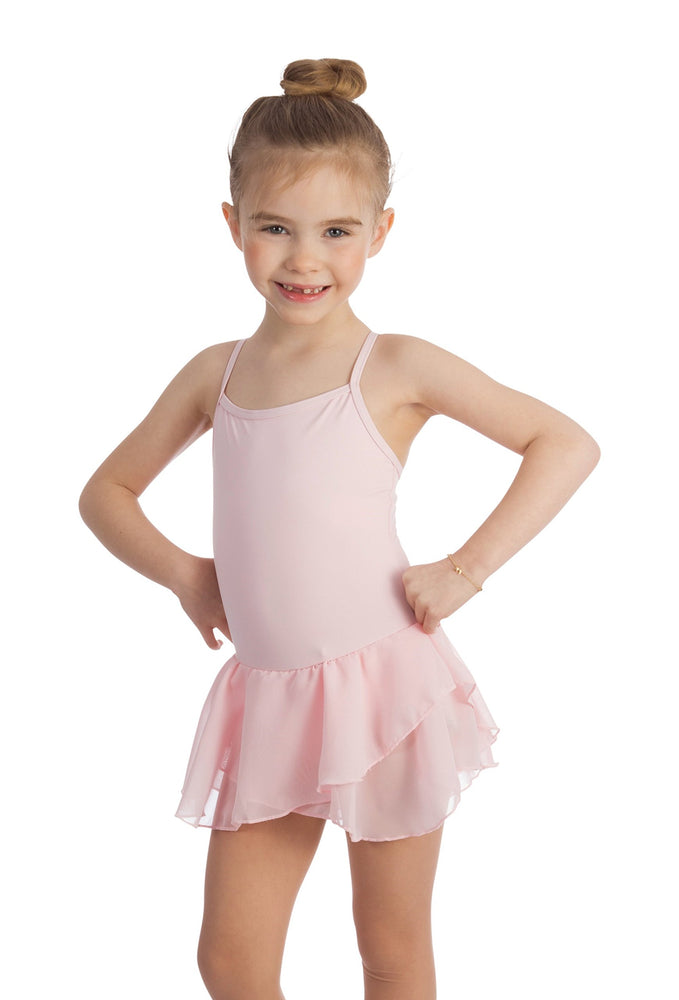 Elowel Kids Girls Basic Skirted Camisole Leotard  (Size 2-14 Years) Color Baby Pink
