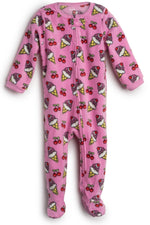 Elowel Baby Girls Footed Icecream Pajama Sleeper Fleece (Size 6M-5Years)
