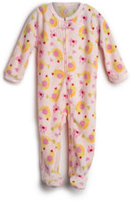Elowel Baby Girls Footed Birds Pajama Sleeper Fleece (Size 6M-5Years)