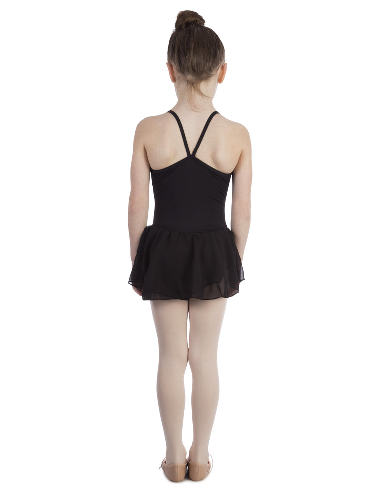 Elowel Kids Girls Basic Skirted Camisole Leotard  (Size 2-14 Years) Color Black