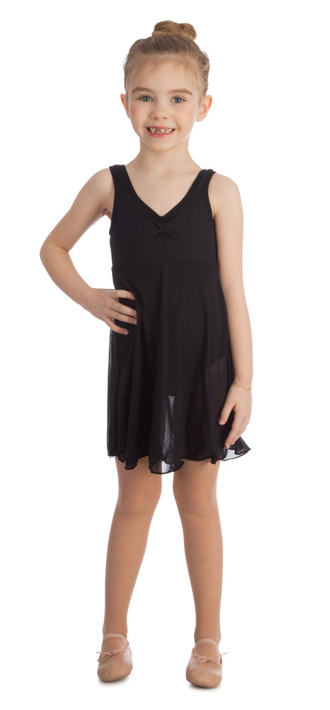 Elowel Kids Girls Empire Leotard Dress  (Size 2-14 Years) Black