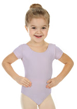 Elowel Kids Girls' Basic Short Sleeve Leotard (Size 2-14 Years) Iavender