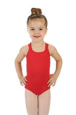 Elowel Kids Girls' Double Strap Camisole Leotard (Size 2-14 Years)  Red