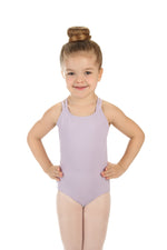 Elowel Kids Girls' Double Strap Camisole Leotard (Size 2-14 Years) Lavender