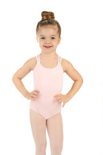 Elowel Kids Girls' Double Strap Camisole Leotard (Size 2-14 Years)  Pink