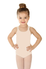 Elowel Kids Girls' Double Strap Camisole Leotard (Size 2-14 Years) Nude Pink
