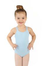 Elowel Kids Girls' Double Strap Camisole Leotard (Size 2-14 Years) Light Blue