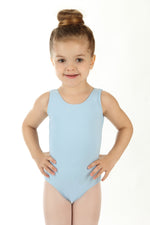 Elowel Kids Girls' Tank Leotard (Size 2-14 Years) Light Blue