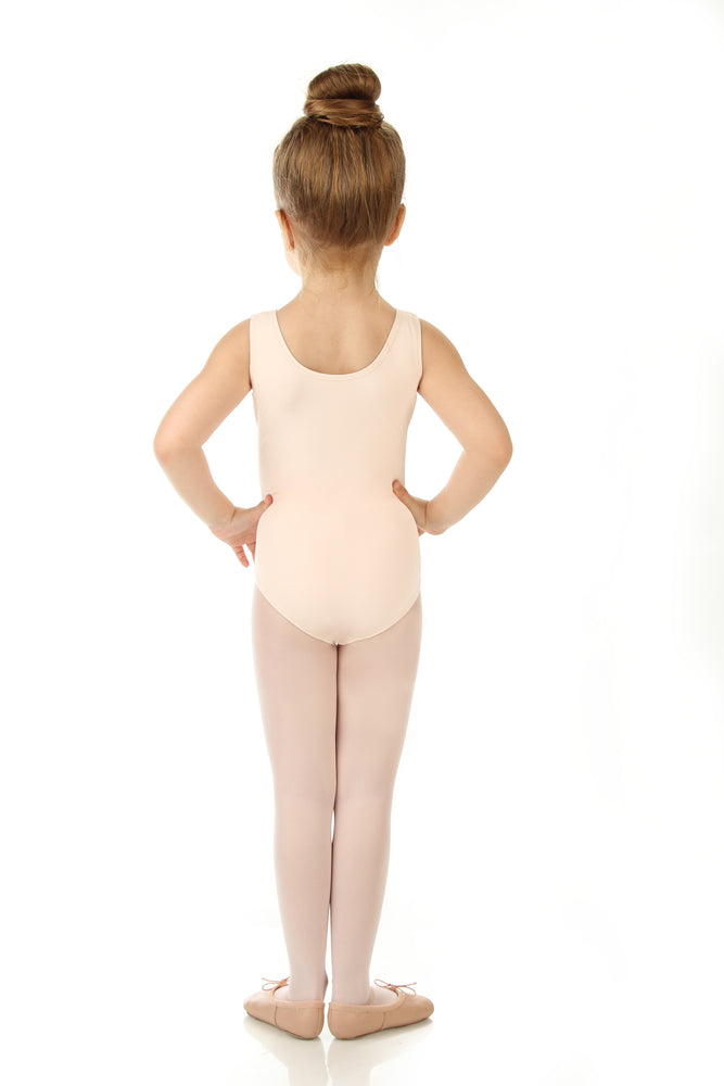 Elowel Kids Girls' Tank Leotard (Size 2-14 Years) Nude Pink
