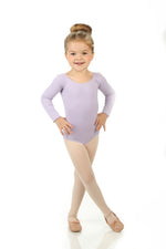 Elowel Kids Girls' Basic Long Sleeve Leotard (Size 2-14 Years) Iavender