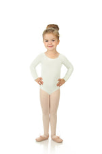 Elowel Kids Girls' Basic Long Sleeve Leotard (Size 2-14 Years) Ivory