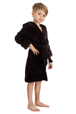 Elowel Boys Girls Hooded Childrens Fleece Sleep Robe Multiple  Colors  Size 2 Toddler -14Y