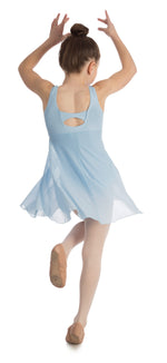 Elowel Kids Girls Empire Leotard Dress  (Size 2-14 Years) Light Blue