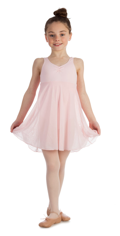 Elowel Kids Girls Empire Leotard Dress  (Size 2-14 Years) Baby Pink