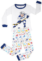 "Elowel Boys ""Hockey player"" 2 Piece Pajama Set 100% Cotton (Size2-8Y)"