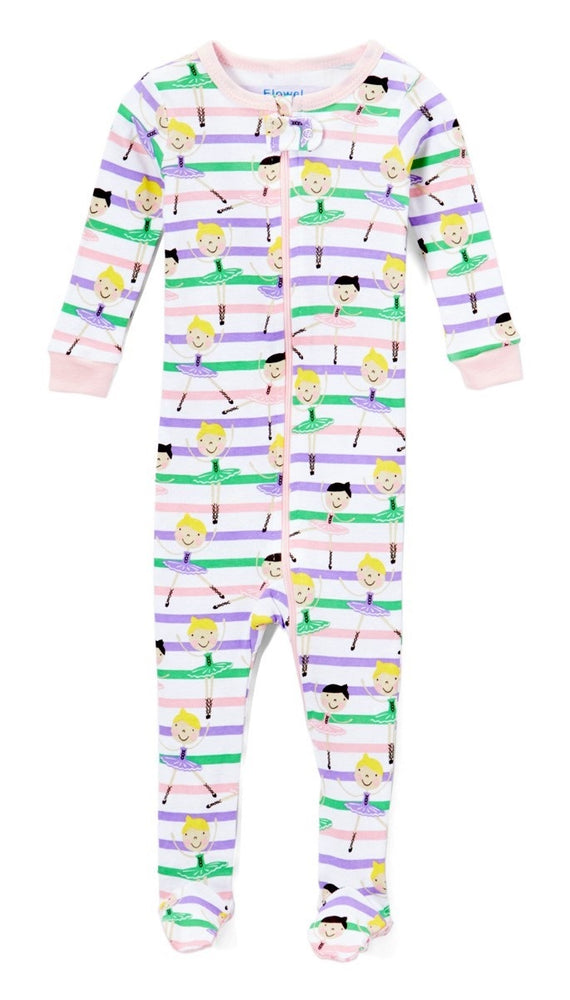 Elowel Baby Girls Footed Ballerina Pajama Sleeper 100% Cotton(Size 6M-5Years)