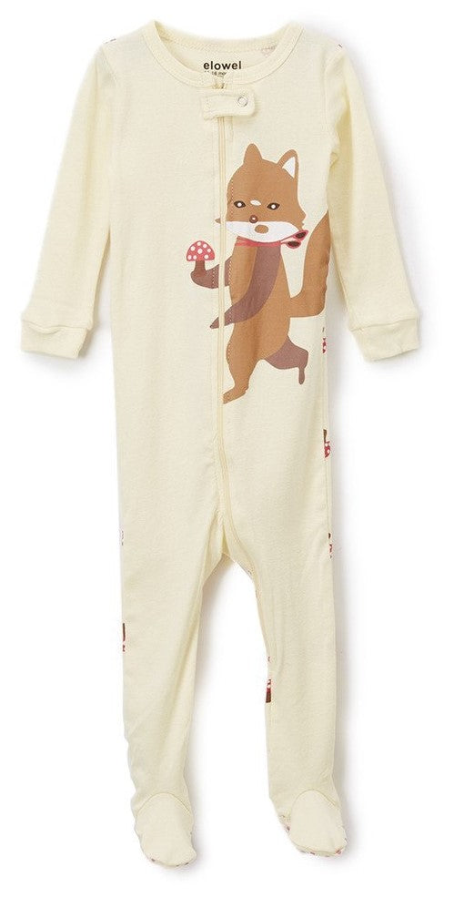 Elowel Baby Girls Footed Fox Pajama Sleeper 100% Cotton (6M-5Y)