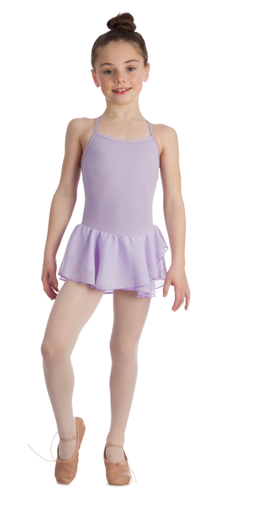 Elowel Kids Girls Basic Skirted Camisole Leotard  (Size 2-14 Years) Color Lavender