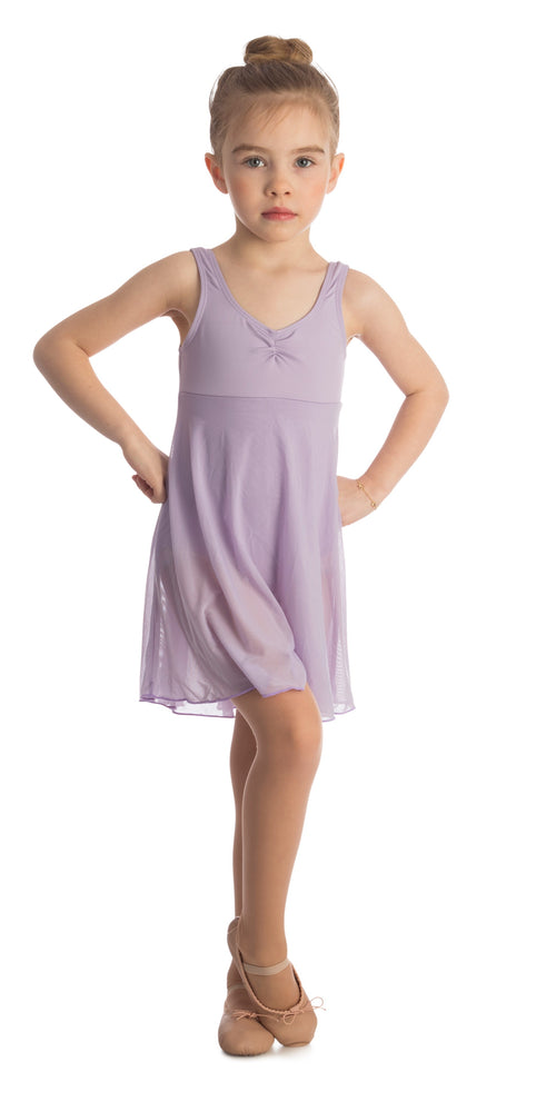 Elowel Kids Girls Empire Leotard Dress  (Size 2-14 Years) Lavender